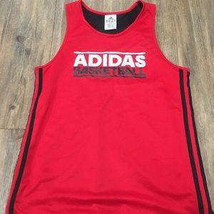 Reversible adidas basketball tank top jersey